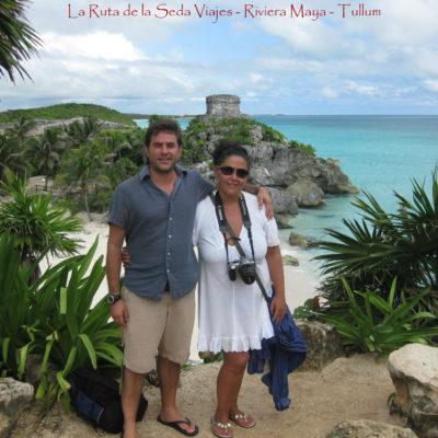 Ruinas de Tulum, Yucatán (México): en las ruinas Mayas de Tulum. Es el único asentamiento que la civilización Maya construyó junto al mar.
